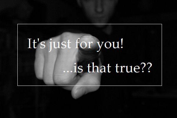 あなたのため…?